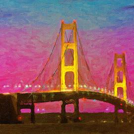 John Farr - Twilight Bridge Mackinaw Bridge