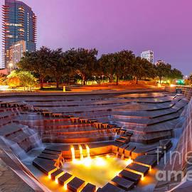 Silvio Ligutti - Twilight Glow at Fort Worth Water Gardens - Downtown Fort Worth Texas