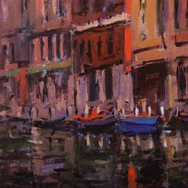 R W Goetting - Twilight on the canal