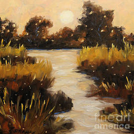Richard T Pranke - Twilight on The Marsh by Prankearts