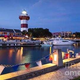 Dawna Moore Photography - Twilight Over Harbour Town, Hilton Head Island, South Carolina