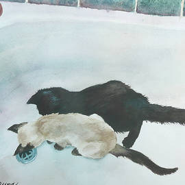 Anne Gifford - Two Cats in a Tub
