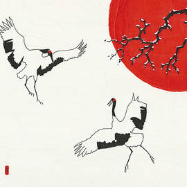 Stephanie Grant - Two Dancing Cranes