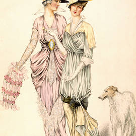 Two dresses for the Goodwood Races - English School