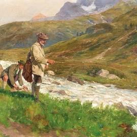 MotionAge Designs - Two fishermen on mountain