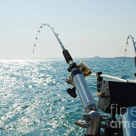 Two Fishing Rods on Back of Boat - Paul Velgos
