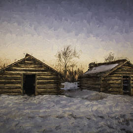 Jeff Oates Photography - Two Huts in the Snow