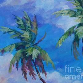 Two Palms and Clouds - John Clark