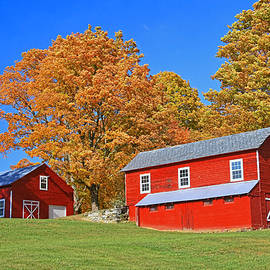 Allen Beatty - Two Red Barns
