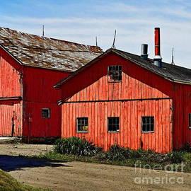 Marcel  J Goetz  Sr - Two Red Barns
