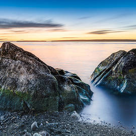Gord Follett - Two Rocks at Golden Hour