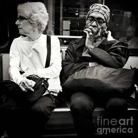 Miriam Danar - Two Women - Faces on a Train
