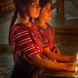 Dan Hartford - Two young girls in Church