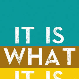 Celestial Images - Typography Quote Poster - It is what it is