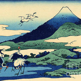 Umegawa in Sagami province, one of Thirty Six Views of Mount Fuji - Hokusai