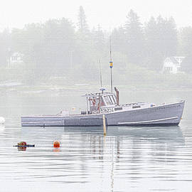 Marty Saccone - Undah Presshah At Mooring In Fog