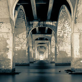 Gregory Ballos - Water Under the Bridge in Black and White