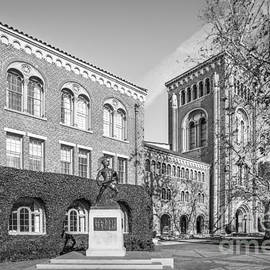 University of Southern California Admin Bldg with Tommy Trojan - University Icons