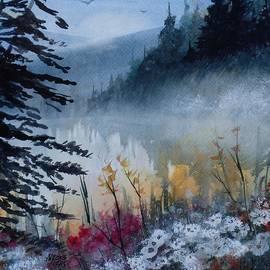 David K Myers - Up North, Watercolor Painting