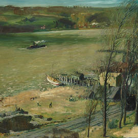 Up the Hudson - George Bellows