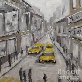 Richard T Pranke - Urban Haze Cityscape by Prankearts