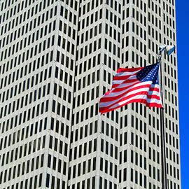 Tina M Wenger - USA flag on union square