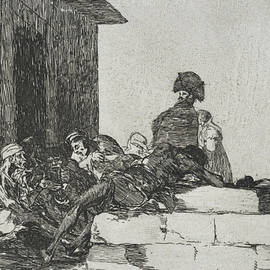 Vain laments from the series The Disasters of War - Francisco Goya