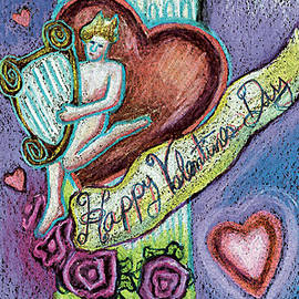 Genevieve Esson - Valentine Cherub On Pillar