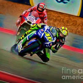 Blake Richards - Valentino Rossi Leads Andrea Dovizioso