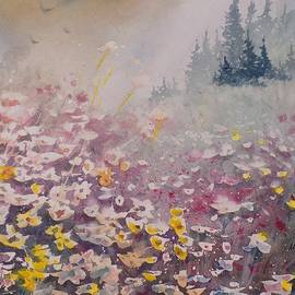 David K Myers - Valley Flowers, Watercolor Painting