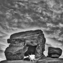 Susan Candelario - Valley Of Fire Rock Formations BW