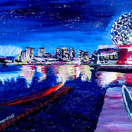 M Bleichner - Vancouver skyline at starry night