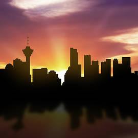 Vancouver Skyline Sunset CABCVA22 - Aged Pixel