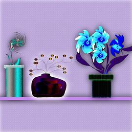 Iris Gelbart - Vases on a shelf