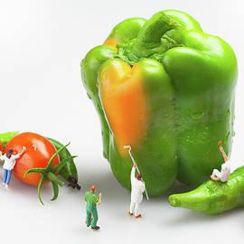 Paul Ge - Vegetable painting Little People On Food