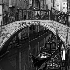Allan Van Gasbeck - Venice Canal and Bridge Monotone