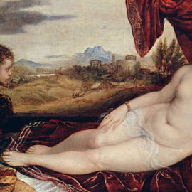 Venus with the Organ Player  - Titian