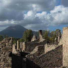 Georgia Mizuleva - Vesuvius Volcano Towering Over the Pompeii Ruins