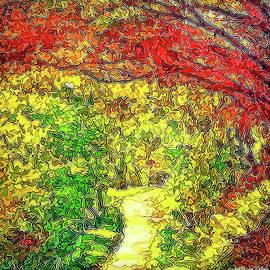 Joel Bruce Wallach - Vibrant Garden Pathway - Santa Monica Mountains Trail