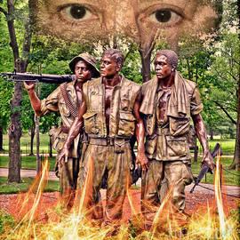 Jim Fitzpatrick - Vietnam War Memorial Three Servicemen statue in Washington D.C. Altered Version IV