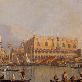 View of the Ducal Palace in Venice - Canaletto