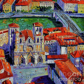 Mona Edulesco - View Over Cathedral Saint Jean Lyon