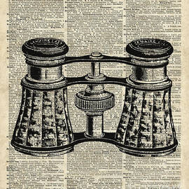 Jacob Kuch - Vintage Binoculars Over Old Dictionary Page