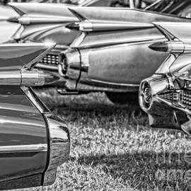 Vintage Cadillac Caddy Fin Party Black and White - Edward Fielding
