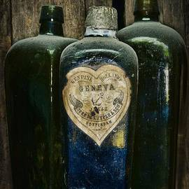 Paul Ward - Vintage Case Gin Bottles