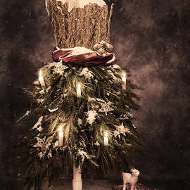 Vintage Christmas Card - Amanda And Christopher Elwell