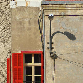 Marc Nader - Vintage Concrete And Red Window, Beirut