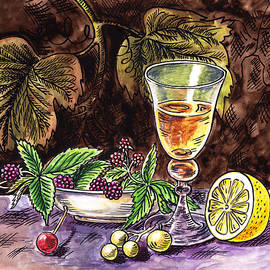 Irina Sztukowski - Vintage Glass With Lemon And Berries