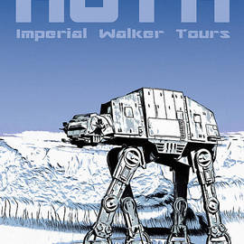 Vintage Hoth Star Wars Travel Poster - Edward Fielding