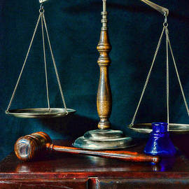 Paul Ward - Vintage Lawyer Scales of Justice